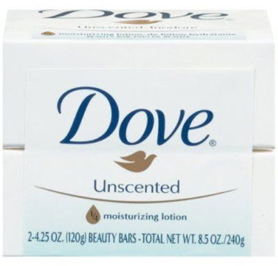 Mild and Unscented Dove Soap Bars